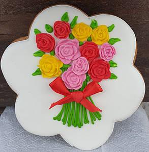 Пряник  цветок подарочный 8 марта
