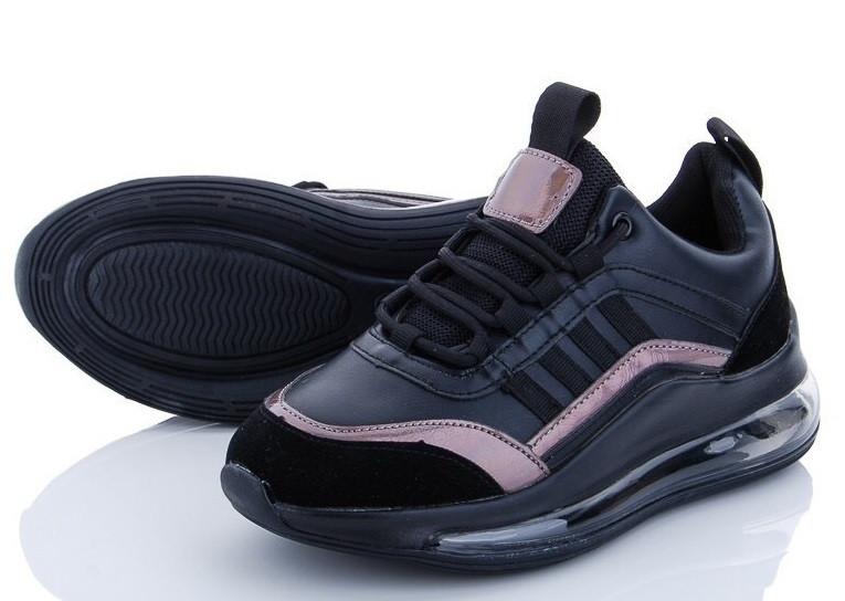 Кроссовки  женские M.D black J376-1