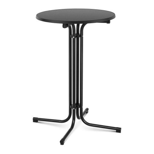 Барный столик - черный - складной - Ø70 см - 110 см Royal Catering