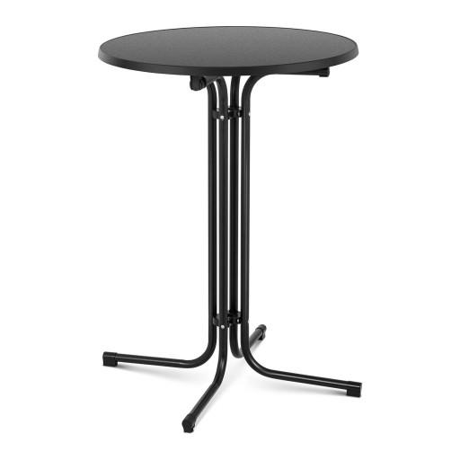 Барный столик - черный - складной - Ø80 см - 110 см Royal Catering