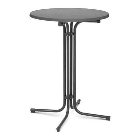 Барный столик - серый - складной - Ø80 см - 110 см Royal Catering, фото 2