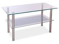 Журнальный стол PIXEL B прозрачный/хром 90x45x50 (Signal)