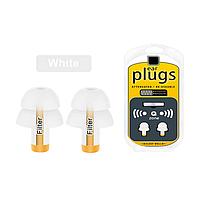 Многоразовые силиконовые беруши с чехлом от шума Filter Ear Plugs White