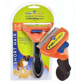 Фурминатор | Расческа для вычесывания шерсти средних  пород собак  Deshedding tool Mediumdog 6,7 см