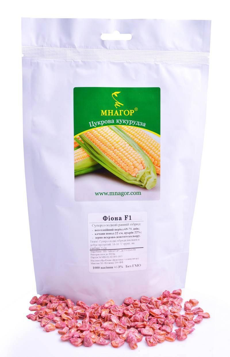 Сахарная кукуруза Фиона F1, 1000 семян на 1.5 сотки, раннеспелый (69-71 дней), Sh2-тип