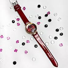 Стильні жіночі годинники Bolun,червоні