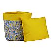 Мешок (корзина) для хранения, Ø45 * 40 см, (хлопок), с отворотом (Жирафчик / горох на желтом), фото 3