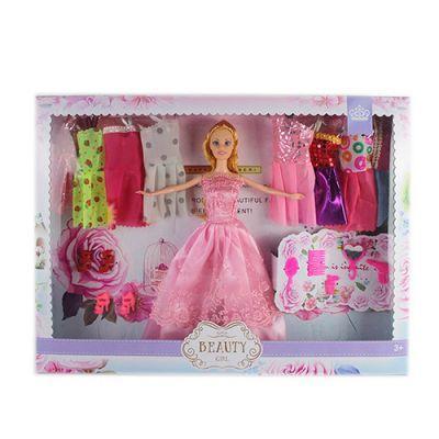 Кукла с нарядом KD8831-B платья, обувь, аксессуары, микс вид, в кор-ке 45-33-5 см