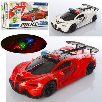 Машина YS215-6 полиция,22,5 см,1:18, ездит, звук(англ,сирена),3Dсвет,2 вида, бат, кор. 23-11-8 см