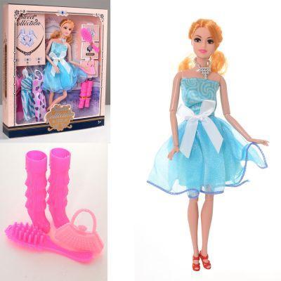 Кукла с нарядом DX517-1 29 см, шарнирная, платья,сумочка, расческа, обувь,в кор-ке 28,5-33-5 см