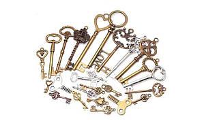 Набір з 40 металевих підвісок шармов шармиков, ключі Premium