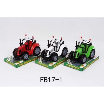 Трактор инерц FB17-1 (144шт/2) 3 вида, под слюдой 17,2*11,5*10 см