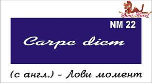 трафарет надпись для биотату NM22