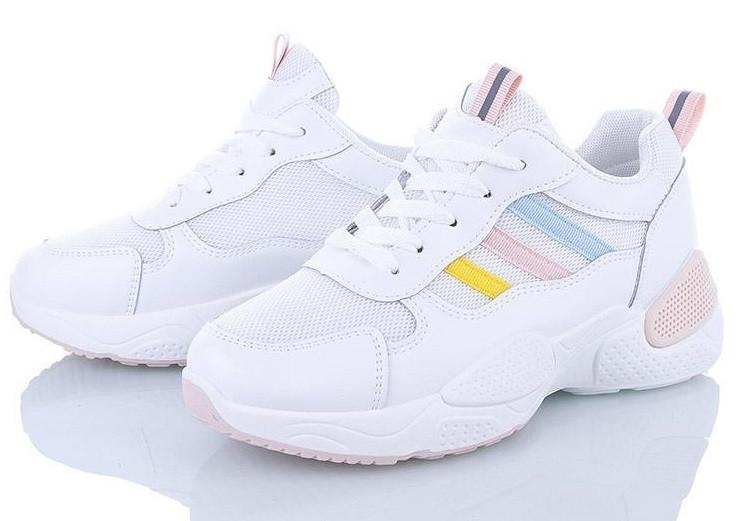 Кроссовки  женские M.D white/pink J511-3
