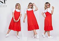 """Сарафан с футболкой для пышных дам  """" Катрин""""  Dress Code, фото 1"""