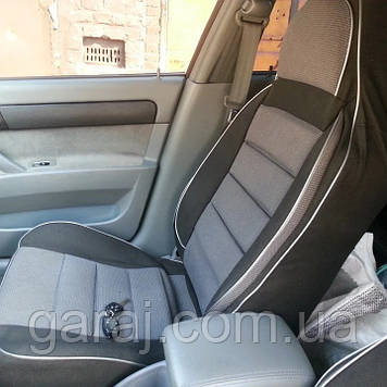Чохли сидінь Ланос/ Daewoo Lanos Пілот комплект тканинні темно-сірі