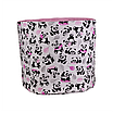 Мешок (корзина) для хранения, Ø45 * 40 см, (хлопок), с отворотом (панды с шариками / горох на розовом), фото 3