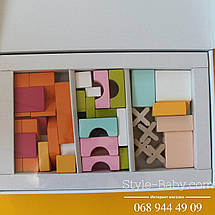 11353 Деревянный конструктор Домик тм Левеня, фото 3
