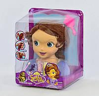 8822 Кукла-голова Принцесса София Манекен для причесок и макияжа, в слюде