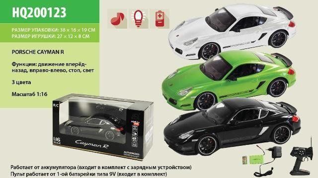KMHQ200123 Машина аккум. р/у   PORSCHE CAYMAN, в коробке 38*19*16см