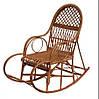 Кресло-качалка плетенное из лозы Ажур