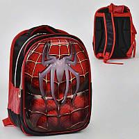 00211 Рюкзак ортопедический в школу Spider-Man 3D рисунок