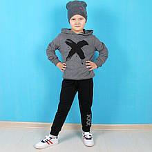 13586сер Детский костюм на мальчика X серый тм Benini размер 2,3,4,5