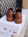 🔥 Кеды кроссовки женские повседневные Alexander McQueen Chestnut александер макквин коричневые, фото 3