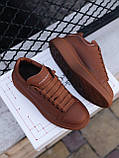 🔥 Кеды кроссовки женские повседневные Alexander McQueen Chestnut александер макквин коричневые, фото 5