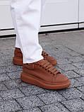 🔥 Кеды кроссовки женские повседневные Alexander McQueen Chestnut александер макквин коричневые, фото 6