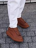 🔥 Кеды кроссовки женские повседневные Alexander McQueen Chestnut александер макквин коричневые, фото 8