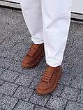 🔥 Кеды кроссовки женские повседневные Alexander McQueen Chestnut александер макквин коричневые, фото 10