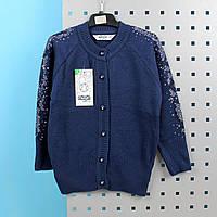 3009син Кофта для девочки синяя тм Mizgin размер 9-10 лет