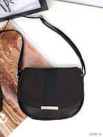 Сумочка женская коричневая кожаная через плечо сумка кроссбоди натуральная кожа, фото 1