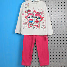6076-002-33роз Пижама детская ЛОЛ розовая размер 104,128,134