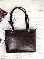 Классическая кожаная женская сумка средняя деловая сумочка на плечо марсала натуральная кожа