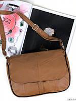 Сумка женская кожаная сумочка маленькая через плечо натуральная кожа коричневая, фото 1