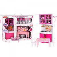 X221L6 Мебель кухня, 32см, стол, стулья, посуда,продукты, в кор-ке, 40,5-33,5-10см