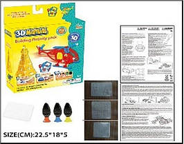 KMLM111-4A Ручка 3D  3 цвета, пластиковая форма для заливки, в коробке22,5*18*5 см