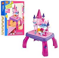 KM3688BM Конструктор 3688B  замок принцессы, игровой столик, фигурки 2шт, 76дет, в кор-ке,44,5-58-12см