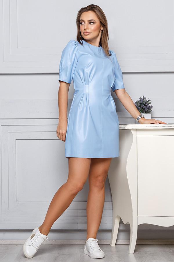 Платье с экокожи  Весна 2020
