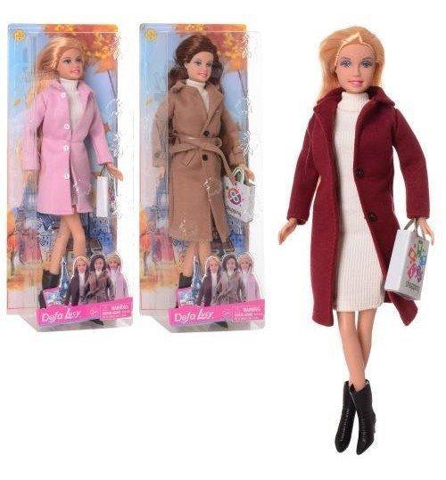 8419 Кукла DEFA 30см, сумочка, 3вида, в кор-ке, 13-32-6см