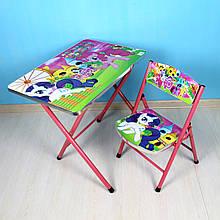 A19-LP Столик складной Пони, столешница  40*60см, 1 стульчик, в кор-ке