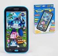 0883 Телефон, смартфон интерактивный Робокар Поли Robocar Poli, 2 вида в коробке