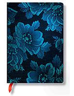 Блокнот Paperblanks Атлас Средний в Линейку Синяя Муза (PB2955-7) (9781439729557)