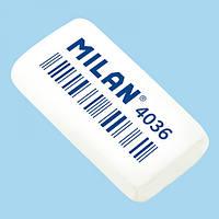 "CNM4036 Гумка прямокут. біл. ""TM MILAN"" 3,9*2*0,8см, інд. уп."