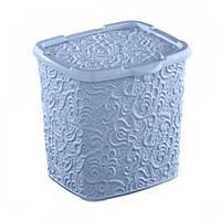 Контейнер для порошка Elif Ажур 383-7 Голубой