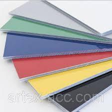 Алюмінієва композитна панель SKYBOND чорний ГЛЯНЦЕВИЙ, 3 мм (0,21/0,21), лист 1250х5800 мм, фото 2