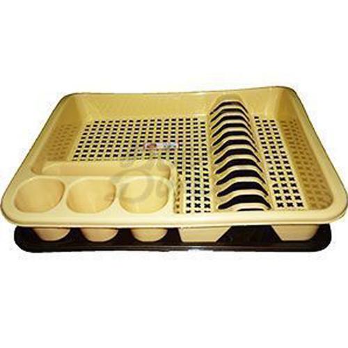Сушка для тарелок большая одноярусная 400*480*70мм ELIF бежевая