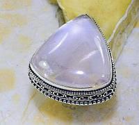 Серебряное Кольцо с розовым кварцем , размер  18.5, фото 1